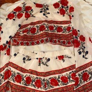 Two Piece Floral Set